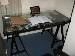 ikea glass top glass top desk with storage in stylized ikea desk glass glass