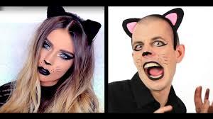 Halloween Animal Makeup Guys Try Halloween Animal Makeup Looks Youtube