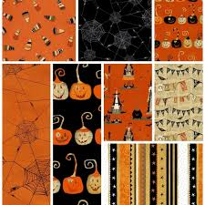 Halloween Fabric Panels by Witchy Fabric Collection Studio E Fat Quarter Bundle And Panel