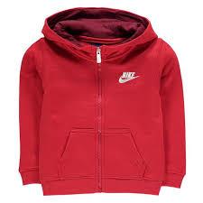 Nike Full Zip Club Fleece Hoodie Infant Boys Fleece Lining Hooded