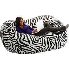extra large 6 u0027 fuf bean bag chair zebra walmart com