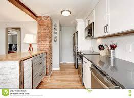 White Grey Kitchen White And Grey Kitchen Room Interior Stock Photo Image 79570497