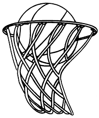 Basketball Coloring Pages Ring And Ball Coloringstar Basketball Color Page