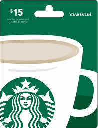 15 gift cards starbucks 15 gift card green starbucks 15 best buy