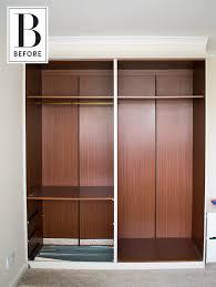 no closet solution before u0026 after a creative solution for a no closet bedroom