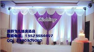 wedding backdrop china wholesale and retail 3x6m white and purple wedding backdrop
