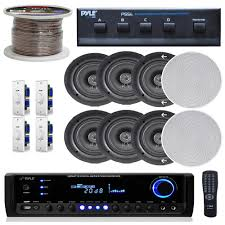 in ceiling home theater system pyle kthsp390 4 pairs of 150w 5 25