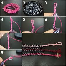 bracelet beaded diy images Diy braided bead bracelet bracelets beads and craft jpg