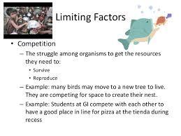 limiting factors worksheet biotic limits limiting factors