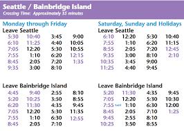 Seattle Light Rail Hours Bainbridge Island Ferry