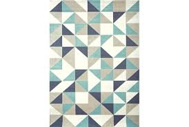 Turquoise Brown Rug 93x128 Rug Vector Turquoise Living Spaces