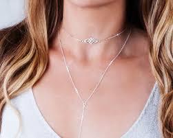 choker necklace layered images Silver choker necklace celtic choker necklace layering etsy jpg