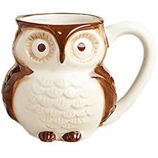 owl mug brown owl coffee mug with baby owl inside