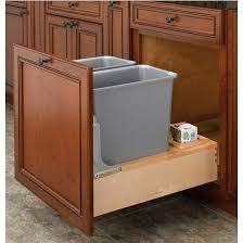 kitchen cabinet garbage can astounding pull out built in trash cans cabinet slide under sink