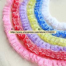 ruffled ribbon aliexpress buy free shipping 1inch 10m lot ruffle lace