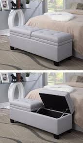 Upholstered Storage Bench With Back Best 25 End Of Bed Bench Ideas On Pinterest Bed Bench Narrow