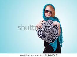 young fashion black dress hat stock photo 129401063