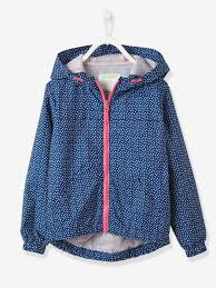 girls printed lined windcheater