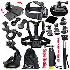 amazon pro amazon com black pro basic common outdoor sports kit for gopro