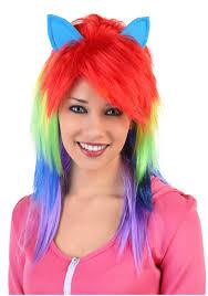 Rainbow Halloween Costume Rainbow Pony Wig