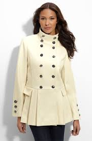 Womens Winter Coats Plus Size Compliment Your Curves In This Plus Size Military Wool Coat