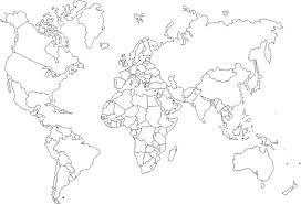 printable world map blank countries world map printable color coloring pages world sheets page interest