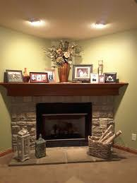corner fireplace designs with stone