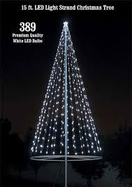 flagpole christmas tree kit white uncommon usa flagpole