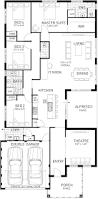 Single Floor Plan by Single Storey Home Designs Single Level Display Homes Plunkett