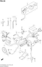 2014 suzuki dr z400sm wiring harness dr z400sml4 e03 parts