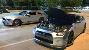 2014 mustang v6 hp v6 mustang smokes a 720hp gt r