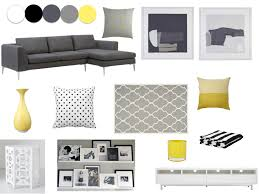 grey yellow white and black living room our new home