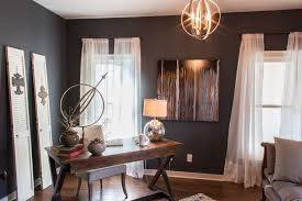 Office Chandelier Contemporary Home Office With Chandelier By Signature Homes