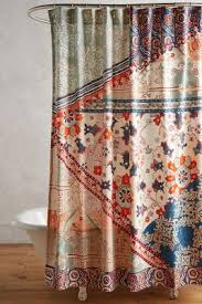 Shower Curtain Unique Boho Shower Curtains Liners Anthropologie