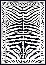Black And White Zebra Area Rug Amazon Com Zebra Print Rug Contemporary Area Rugs 5x8 Zebra Rugs