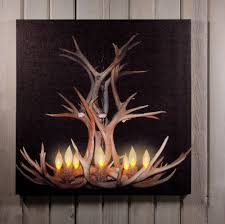 radiance flickering light canvas deer themed wall art with led lights shelley b home and holiday