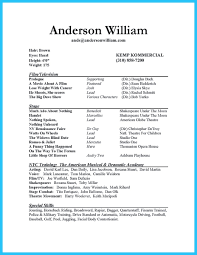 Acting Resume Template Word Outstanding Acting Resume Sample To Get Job Soon