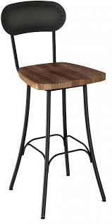bar stools black metal counter height bar stool with leather