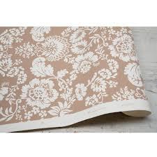 baroness hand printed wallpaper brown u2013 liefalmont