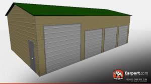 Garage With Carport Steel Garage With 4 Doors 24 U0027 X 41 U0027 Shop Metal Garages Online
