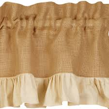 Cream Ruffle Curtains Primitive Curtains And Country Valances For Country Home Decorating