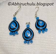 quilling earrings set abhiruchulu paper quilling earring pendant set