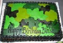 camoflauge cake cake