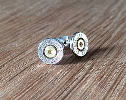 bullet stud earrings 40 caliber winchester remington bullet earrings sterling