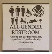 Use All The Memes - all gender restroom anyone can use this restroom regardless of
