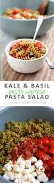 Simple Pasta Salad Recipe Kale U0026 Basil Pesto Caprese Pasta Salad Life As A Strawberry