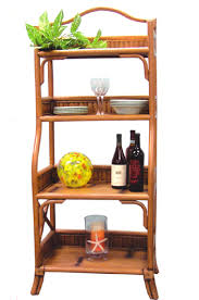 Large Bakers Rack Captiva Rattan Console Table And Mirror From Summit Design