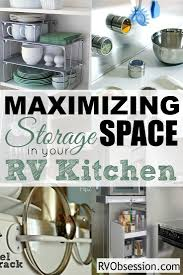 Storage Ideas For Small Kitchen by Best 25 Small Rv Ideas On Pinterest Small Rv Trailers Small Rv