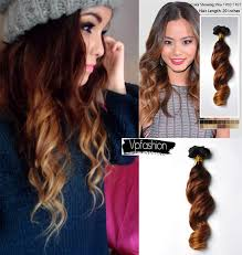 vpfashion ombre hair extensions three tone human ombre extensions for hairstyles new year