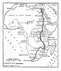 Africa Map Rivers Nile Coloring Pages